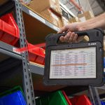 X10 Rugged Tablet Used In Warehouse - Barcode Scanning for Inventory Management