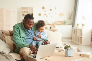 Father Working from Home with VPN Solutions